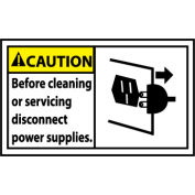 Graphic Machine Labels - Caution Before Cleaning Or Servicing Disconnect Power