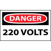 Machine Labels - Danger 220 Volts