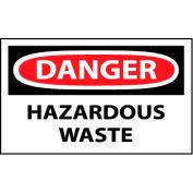 Machine Labels - Danger Hazardous Waste