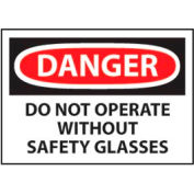 Machine Labels - Danger Do Not Operate Without Safety Glasses