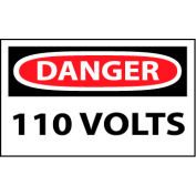 Machine Labels - Danger 110 Volts