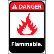 Danger Sign 14x10 Aluminum - Flammable