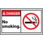 Graphic Machine Labels - Danger No Smoking