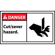Graphic Machine Labels - Danger Cut/Sever Hazard