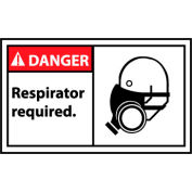 Graphic Machine Labels - Danger Respirator Required