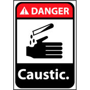 Danger Sign 14x10 Vinyl - Caustic