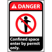 Danger Sign 14x10 Aluminum - Confined Space
