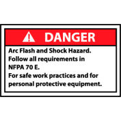 Graphic Machine Labels - Danger Arc Flash And Shock Hazard Follow All