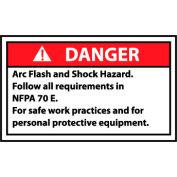 Graphic Machine Labels - Danger Arc Flash And Shock Hazard Follow All