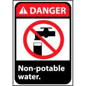 Danger Sign 10x7 Vinyl - Non-Potable Water