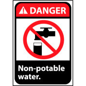 Danger Sign 10x7 Rigid Plastic - Non-Potable Water