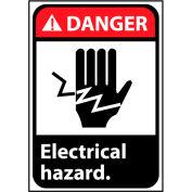 Danger Sign 14x10 Vinyl - Electrical Hazard