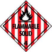 DOT Placard - Flammable Solid
