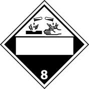 DOT Placard - Corrosive Blank