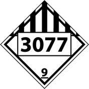 DOT Placard - Four Digit 3077
