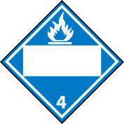 DOT Placard - Dangerous When Wet 4