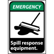 Emergency Sign 14x10 Vinyl - Spill Response Equipment