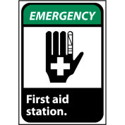 Emergency Sign 14x10 Aluminum - First Aid Station