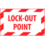Graphic Machine Labels - Lock-Out Point