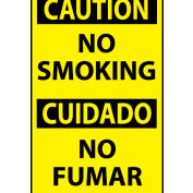 Bilingual Machine Labels - Caution No Smoking