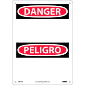 Bilingual Aluminum Sign - Danger Blank