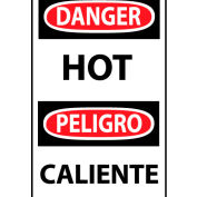 Bilingual Machine Labels - Danger Hot, 5-Pack