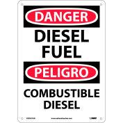 Bilingual Aluminum Sign - Danger Diesel Fuel