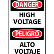 Bilingual Machine Labels - Danger High Voltage