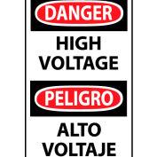 Bilingual Machine Labels - Danger High Voltage