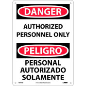 Bilingual Aluminum Sign - Danger Authorized Personnel Only