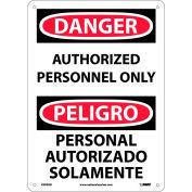 Bilingual Aluminum Sign - Danger Authorized Personnel Only