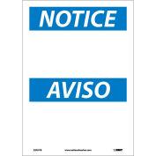 Bilingual Vinyl Sign - Notice Blank