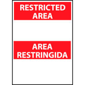 Restricted Area Vinyl - Bilingual - Area Restringida Blank with Header Only