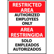Restricted Area Aluminum - Bilingual - Authorized Employees Only