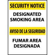 Security Notice Plastic - Designated Smoking Area