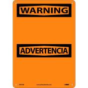 Bilingual Aluminum Sign - Warning Blank