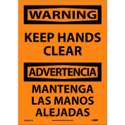 Bilingual Vinyl Sign - Warning Keep Hands Clear