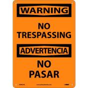 Bilingual Aluminum Sign - Warning No Trespassing