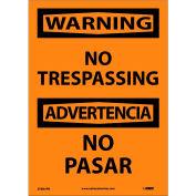 Bilingual Vinyl Sign - Warning No Trespassing