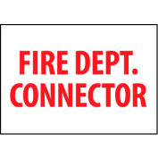 Fire Safety Sign - Fire Department Connector - Plastic