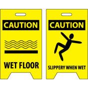 Floor Sign - Caution Wet Floor Caution Slippery When Wet