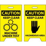 Floor Sign - Caution Keep Clear Machine Under Test