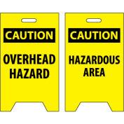 Floor Sign - Caution Overhead Hazard Caution Hazardous Area