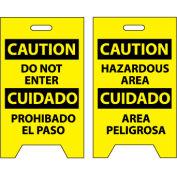 Floor Sign - Caution Do Not Enter Cuidado Pohibado El Paso