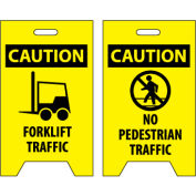 Floor Sign - Caution Forklift Traffic No Pedestrian Traffic