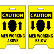 Floor Sign - Caution Men Working Above/Below