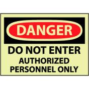 Glow Danger Vinyl - Do Not Enter Auth Personnel Only