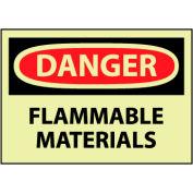 Glow Danger Rigid Plastic - Flammable Material