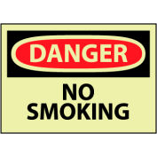 Glow Danger Rigid Plastic - No Smoking