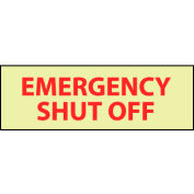Glow Sign Vinyl - Emergency Shut Off